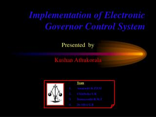 Implementation of Electronic Governor Control System