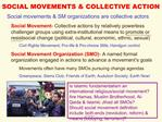 SOCIAL MOVEMENTS  COLLECTIVE ACTION