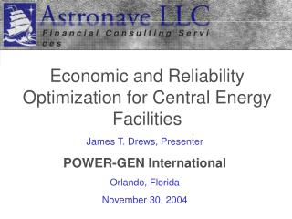 Economic and Reliability Optimization for Central Energy Facilities