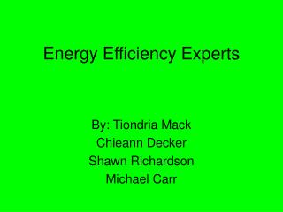 Energy Efficiency Experts