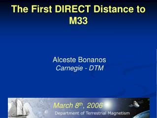 The First DIRECT Distance to M33