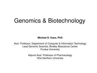 Genomics & Biotechnology