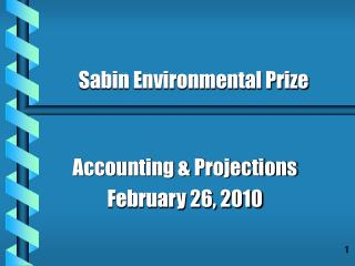 Accounting & Projections February 26, 2010