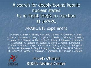 A search for deeply-bound kaonic nuclear states  by in-flight  3 He(K - ,n) reaction  at J-PARC