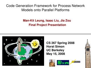 Code Generation Framework for Process Network Models onto Parallel Platforms