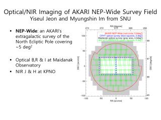Optical/NIR Imaging of AKARI NEP-Wide Survey Field Yiseul Jeon and Myungshin Im from SNU