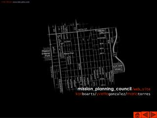 Community resources web site for the Mission Planning Council