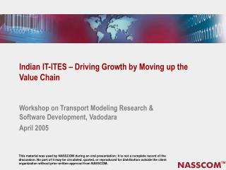 Indian IT-ITES – Driving Growth by Moving up the Value Chain