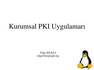 Kurumsal PKI Uygulamar ı