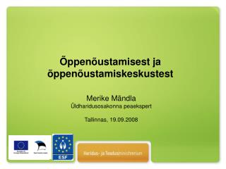 Merike Mändla Üldharidusosakonna peaekspert Tallinnas, 19.09.2008
