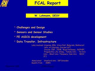 FCAL Report
