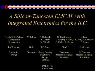 A Silicon-Tungsten EMCAL with Integrated Electronics for the ILC