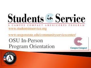 OSU In-Person Program Orientation