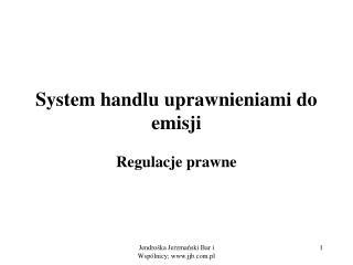 System handlu uprawnieniami do emisji