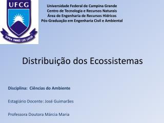 Distribui  o dos Ecossistemas
