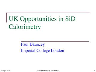 UK Opportunities in SiD Calorimetry