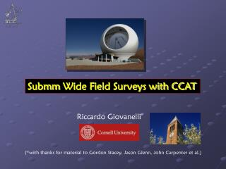 Submm  Wide Field Surveys with CCAT