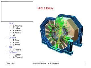 KPiX & EMCal