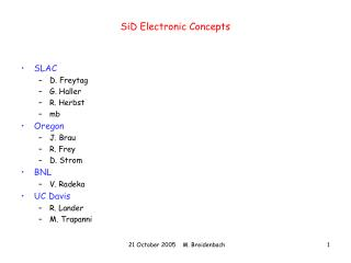 SiD Electronic Concepts