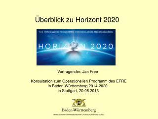 Überblick zu Horizont 2020