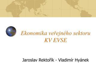 Ekonomika veřejného sektoru KV EVSE