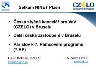 Česká styčná kancelář pro VaV    (CZELO) v Bruselu