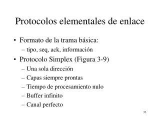 Protocolos elementales de enlace