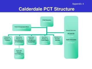 Calderdale PCT Structure