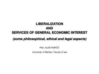DEFINITIONS LIBERALIZATION