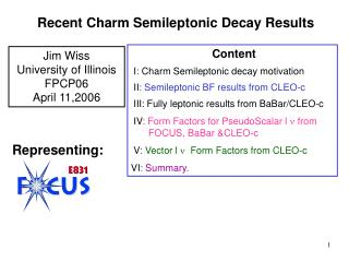 Recent Charm Semileptonic Decay Results