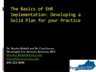 The Basics of EHR Implementation: Developing a Solid Plan for your Practice