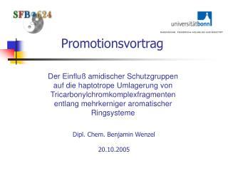 Promotionsvortrag