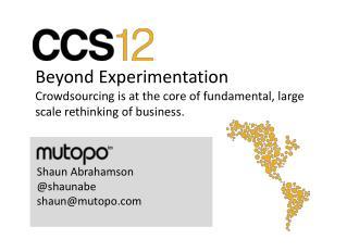 Beyond Experimentation