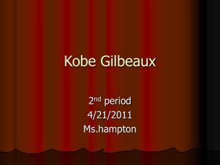Kobe Gilbeaux