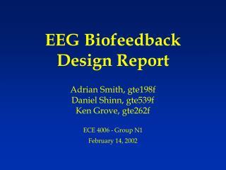 EEG Biofeedback Design Report