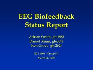 EEG Biofeedback Status Report