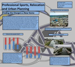 Professional Sports, Relocation and Urban Planning