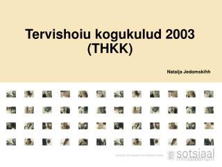 Tervishoiu kogukulud 2003 (THKK)