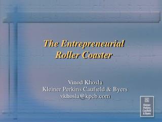 The Entrepreneurial Roller Coaster