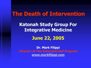 The Death of Intervention