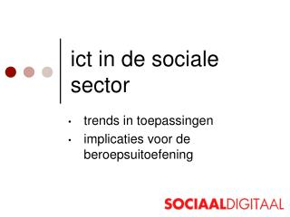 ict in de sociale sector