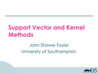 Support Vector and Kernel Methods