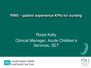 PINS – patient experience KPIs for nursing