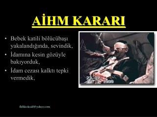 AİHM KARARI