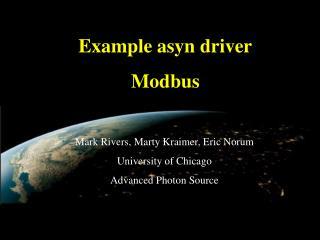 Example asyn driver Modbus
