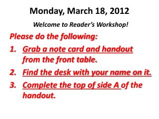 Monday, March 18, 2012