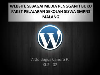 WEBSITE  SEBAGAI MEDIA PENGGANTI BUKU PAKET PELAJARAN SEKOLAH SISWA SMPN3 MALANG