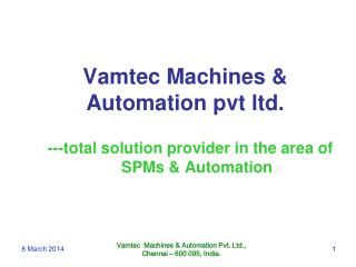 Vamtec Machines & Automation pvt ltd.