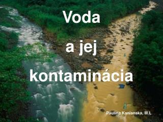 Voda a jej kontaminácia