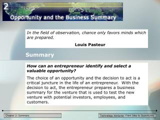 Technology Ventures : From Idea to Opportunity